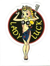 LADY LUCK PIN UP HOT ROD DRAG RACE Sticker Decal