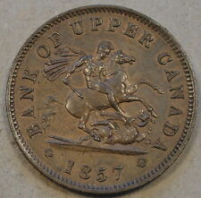 Upper Canada 1857 Penny Token PC-6D Borderline Unc as Pictured