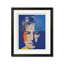 John Lennon x Andy Warhol Pop Art The Beatles Portrait Poster
