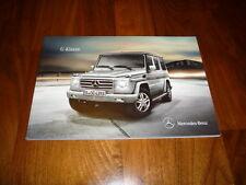 Mercedes benz clase G folleto 09/2010