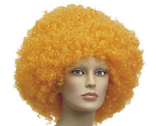 Extra Large Over Sized Orange Curly Afro Wig Clown Circus Fancy Dress