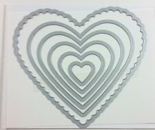 Stampin Up HEARTS COLLECTION Framelits Sizzix Dies Retired NEW