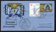 VATICANO 1980 Aerogramma 220L Raccomandato USATO per Roma FDC  (ZUD)