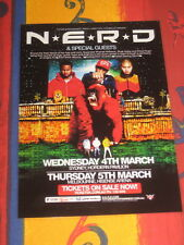 N-E-R-D -  PHARRELL WILLIAMS  AUSTRALIAN  TOUR  -  PROMO TOUR POSTER