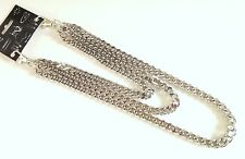 "NEW 20"" TRIPLE CHROME WALLET JEAN CHAIN HIP HOP PUNK BIKER THICK KEYCHAIN #WC300"
