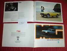N°4881  /catalogue   MG Midget  MK III  et MGB  / MGB GT et V8   1974
