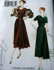 1950s VOGUE VINTAGE MODEL EVENING DRESS SEWING PATTERN 8-10-12-14-16 UNCUT