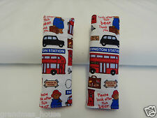 Baby Seat Belt Strap Covers Car Chair Stroller- Paddington Bear Lost In London