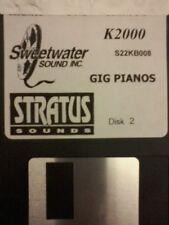 KURZWEIL ~ GIG PIANOS disk 2  ~ Floppy Disk K2X/K25/K26 w/VAST PROGRAMMINGS!