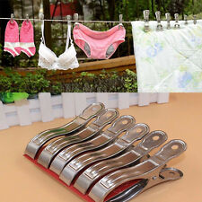20Pcs Stainless Steel Clothes Hanger Pegs Hanging Pins Clips Laundry Windproof