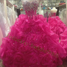 Sexy Quinceanera Formal Prom Party Ball Gown Wedding Dress Custom All Size 2-22+