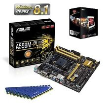 AMD A8 5600K QUAD CORE APU CPU ASUS MOTHERBOARD 16GB DDR3 MEMORY RAM COMBO KIT