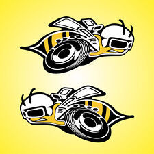 """2 Super Bee Decals Stickers Pair 6"""" x 12"""" Large Bumble Super Bee Scat Pack logo"""