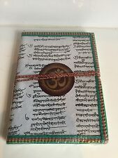 Recycled Large Diary Om Aum Vegetable Dye Notebook Journal Buddha Sanskrit