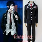 New Ao no Exorcist Okumura Rin Cosplay Costume Full Set Uniform