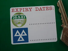 "ROAD TAX & MOT Expiry Dates REMINDER STICKERS 2.5"" Pair Service Car Garage Bike"