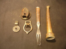Old Vtg Collectible Hose Nozzle, Fork, Misc Items Sold In Lot (5)