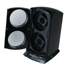 Diplomat Automatic Double Dual Watch Winder Tower Carbon Fiber Gloss black