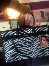 By Paris Hilton  zebra shopper weekend large tote New Women's Designer Handbag