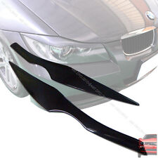 Unpainted BMW E90 3-SERIES 4DR HEADLIGHT EYEBROWS EYELIDS §