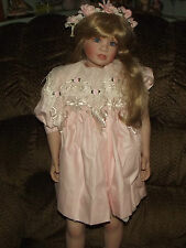 PEGGY DEY PORCELAIN DOLL ASHLEY #8 OF 500 SIGNED BY ARTIST WITH CERTIFICATE