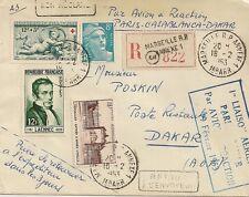 LETTRE PAR AVION - 1ere LIAISON PARIS CASABLANCA DAKAR - 19 FEVRIER 1953