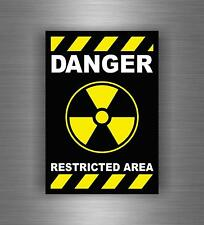 Sticker decal car moto biker funny danger restricted area room warning caution