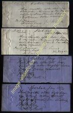 1874 CARLISLE & SILLOTH Promissory notes,  FAWCETT of SCALEBY CASTLE, Cumbria