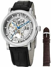 Stuhrling 426AL SET 01 Men's Winchester XT Automatic Skeleton Leather Watch