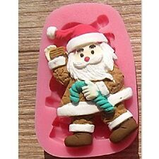 NEW Christmas Santa Silicone Mold for Fondant, Gum Paste, Chocolate, Cake Topper