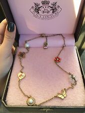 Juicy Couture 14K Yellow Gold-Plated Bloom Flower Necklace Rare Vintage Style