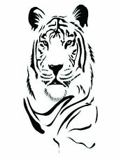 Tiger Head  Small vinyl wall decal