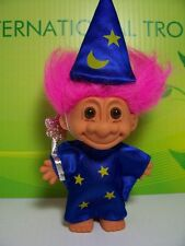 "WIZARD - 5"" Russ Troll Doll - NEW IN ORIGINAL WRAPPER - Pink Hair"