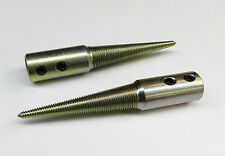"""TAPERED SPINDLES RIGHT & LEFT 3/8"""" ARBOR HOLE FOR MOTORS - BUFFERS - GRINDERS"""