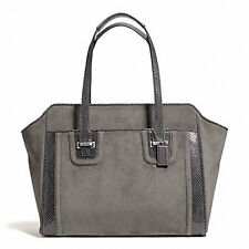 Coach Bag F25301 TAYLOR SUEDE ALEXIS CARRYALL GRAPHITE Agsbeagle #COD PAYPAL