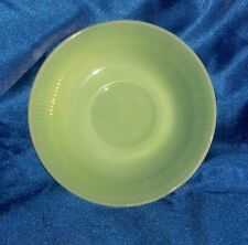 Vintage Anchor Hocking Fire King Jane Ray Jadite Saucer