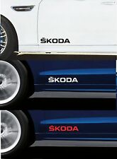 Para Skoda - 2 X Puerta Coche Decal Sticker Adhesivo-Fabia Octavia - 300mm de largo
