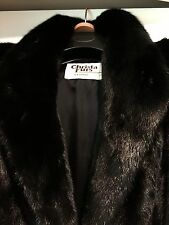 Mink fur short coat, black,  in a great condition M-L