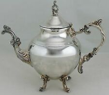 VINTAGE SILVER PLATED TEAPOT TEA/COFFEE POT ORNATE HANDLE & SPOUT HOLLOWWARE