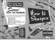 1954 Craftsman How to Sharpen Instructions