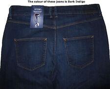 New Ladies Marks & Spencer Dark Blue Boyfriend Jeans Size 16 DEFECT