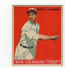 1933 V353 World Wide Gum  Baseball Card Henry Johnson Washington Senators