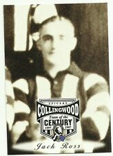 AFL 1997 COLLINGWOOD #45 JACK ROSS SPICERS TEAM OF THE CENTURY CARD