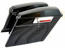 "Mutazu Stretched Extended Complete Saddlebags 4"" For Harley Davidson HD Touring"