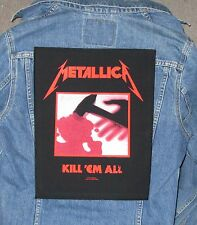 METALLICA all  BACKPATCH BACK PATCH    LARGE / HEAVY METAL BLACK