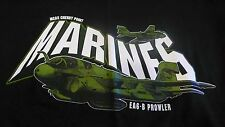 U.S MARINES MCAS CHERRY POINT NC  EAS 6 B PROWLER MED BLACK T-SHIRT MADE IN USA