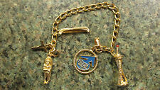 1962 SEATTLE WORLDS FAIR CHARM BRACELET WITH 4 CHARMS
