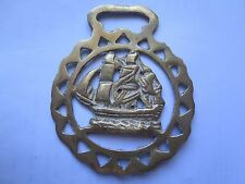 HORSE BRASS of a THREE MASTED TALL SAILING SHIP c1960s