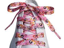 Disney Princesa 'Cordones 120cm Rosa para Niñas Damas Zapatillas Zapatos De Salón