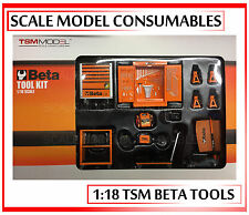 1:18 1-18 1/18 118 BETA GARAGE WORKSHOP TOOL SET DIORAMA SPARES ACCESSORIES TSM